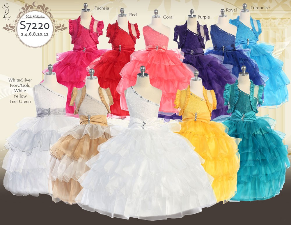 pageant dresses with ruffled bolero
