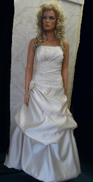 Champagne Wedding dress with bubble hem