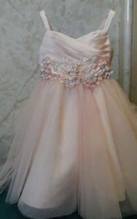 sherbet toddler wedding gown