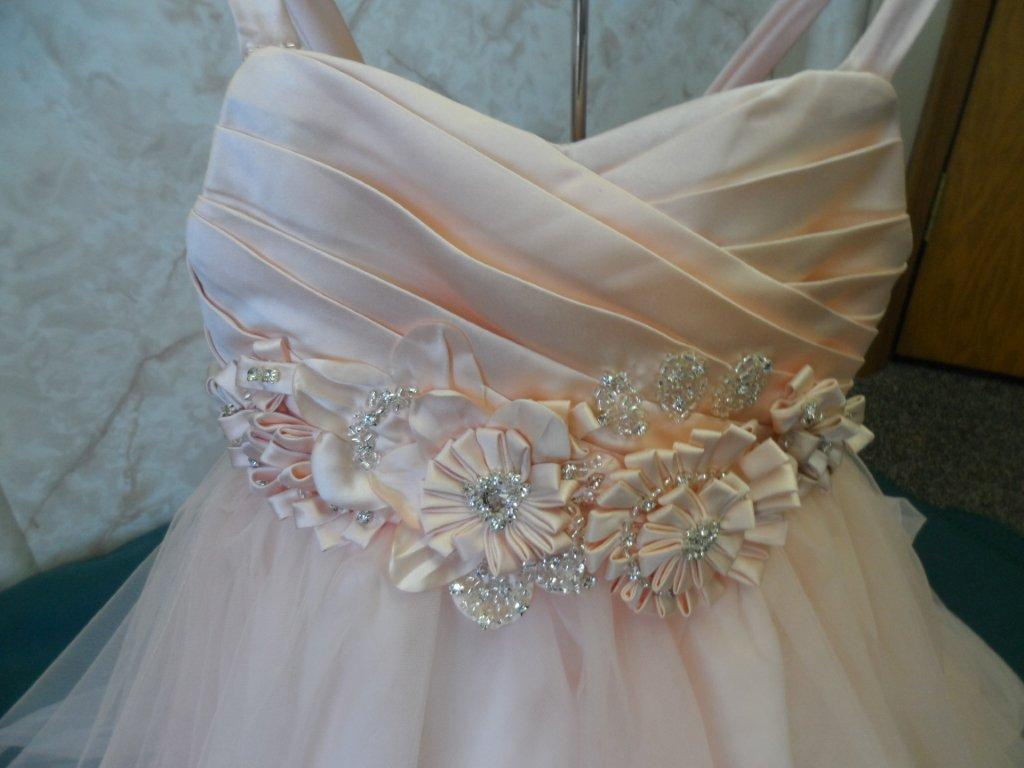 sherbet wedding gown
