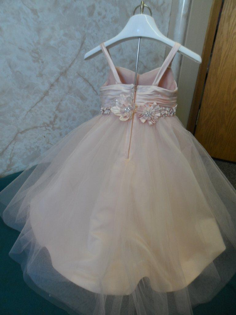 Sherbet tulle miniature bridal gown