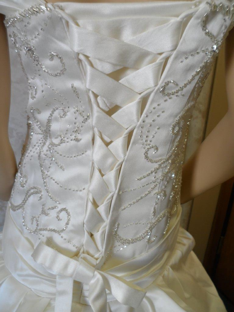 beaded dress with corset lace up