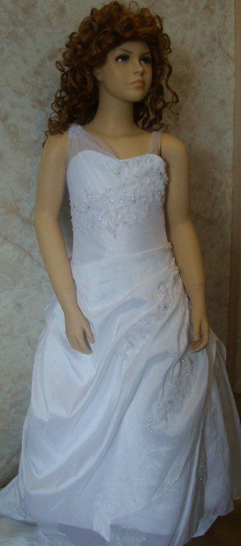 One Shoulder tulle strap miniature wedding gown