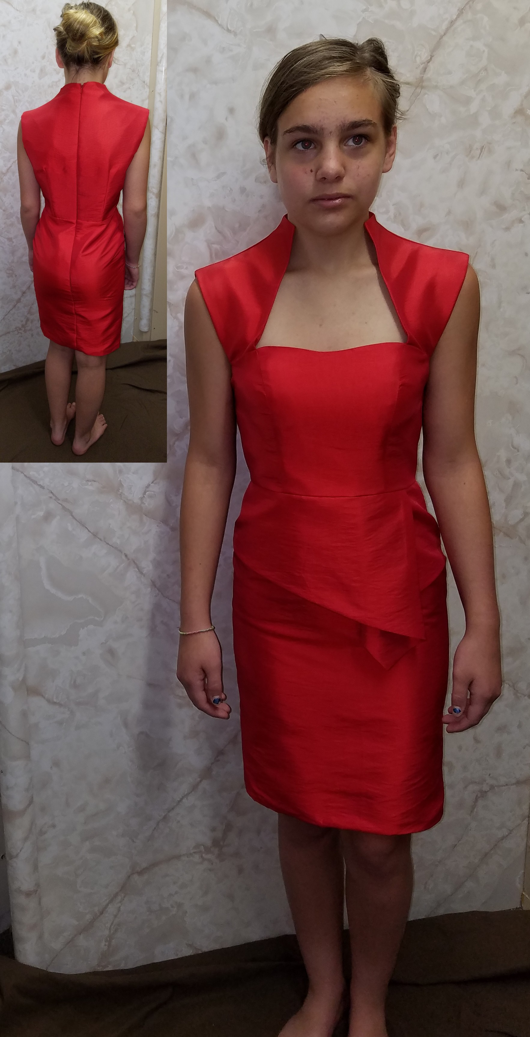 hot red bridesmaid dress