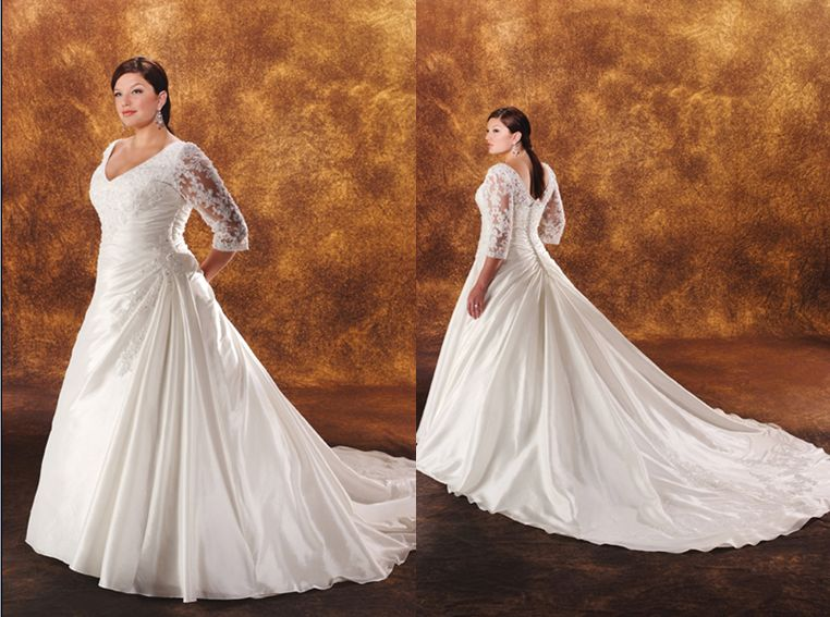 Ruched Wedding Gown Styles.
