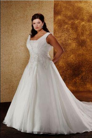 low cost plus size wedding dress