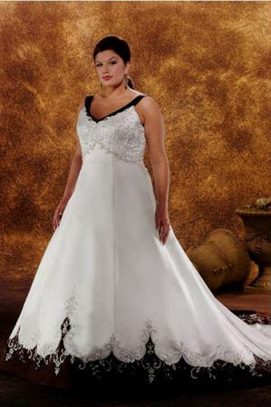 plus size black and white wedding dresses