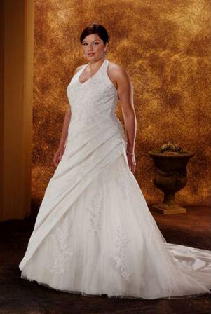 plus size wedding dress for less