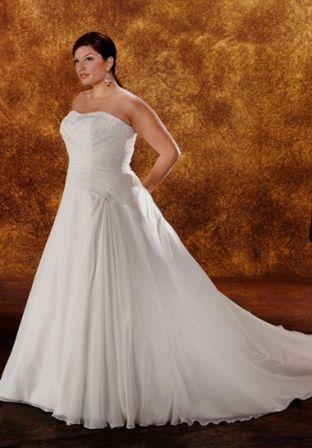 cheap plus size brides dress