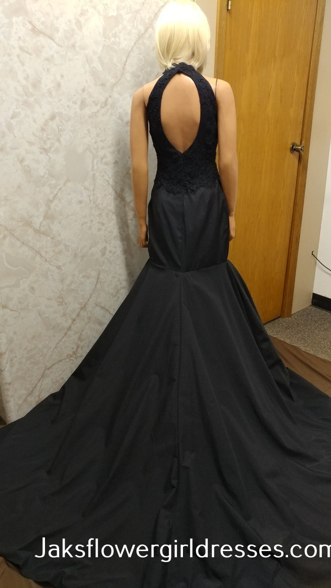 open back dress with train