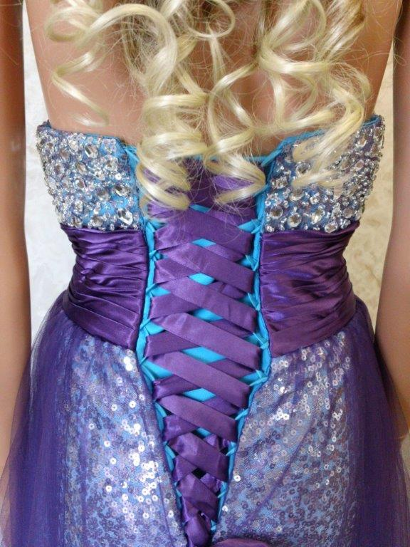 Strapless Sweetheart Sequin Iridescent