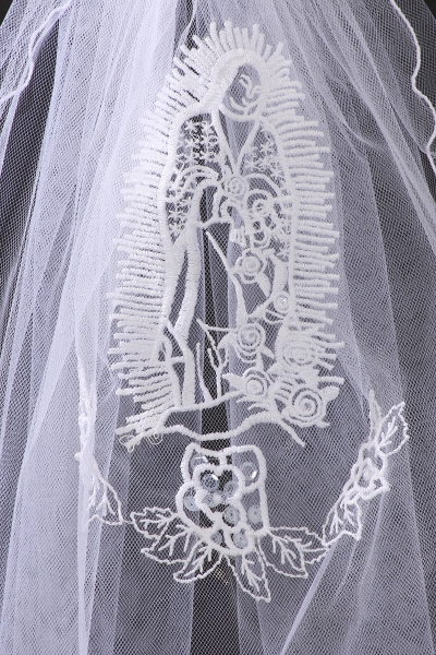 Virgin Maria mesh veil with sequins