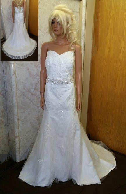In stock wedding gowns