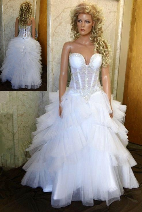 Ruffle wedding dresses.