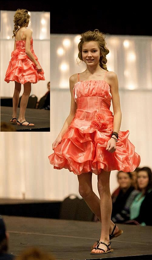 orange bubble dresses for teens