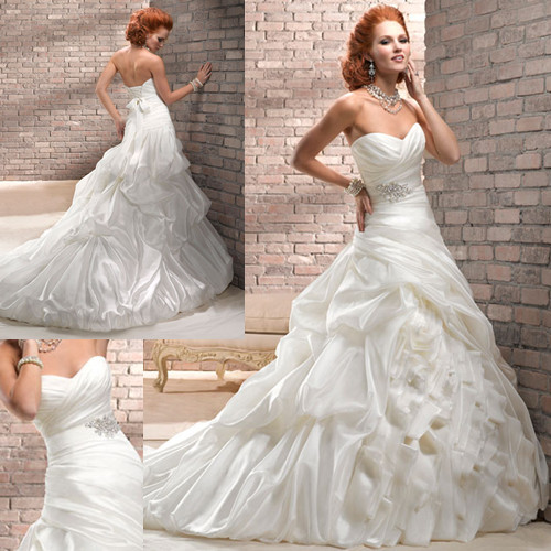 pick up wedding ball gown