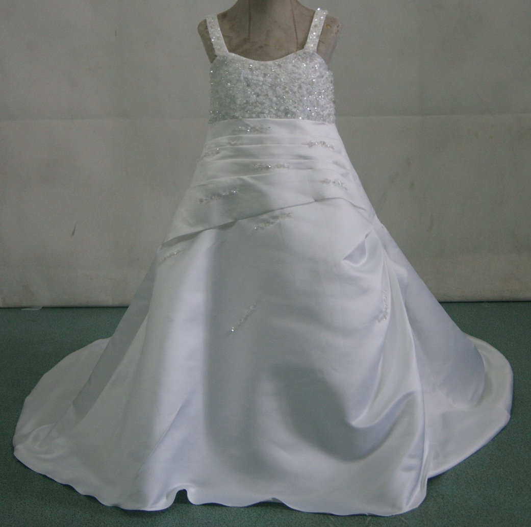 sequin strap miniature bridal gown