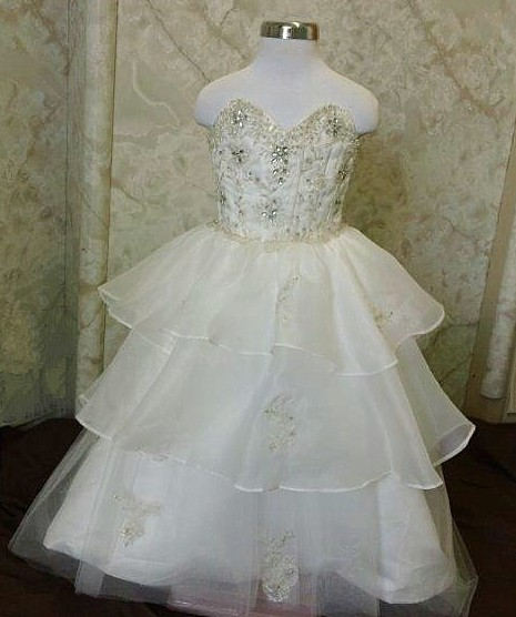infant fairytale wedding gown