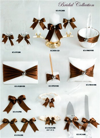 brown wedding accessories