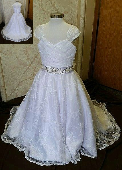 child size 7 flower girl dress