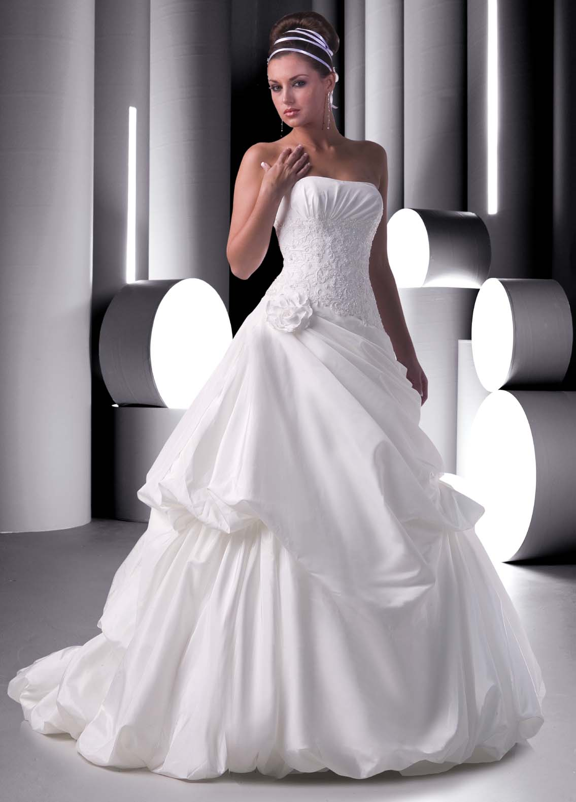 wedding gown bubble skirt