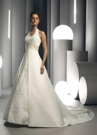 empire waist halter wedding dresses