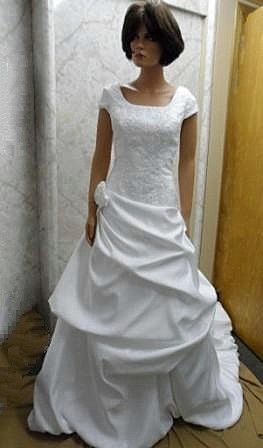 wedding dress with bubble skirt