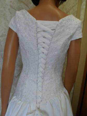 wedding dress with corset lace up