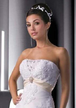 lace overlay a-line wedding dress