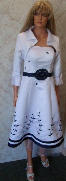 White and navy womens dress