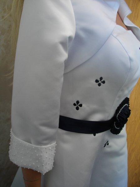 optional jacket with beaded cuff