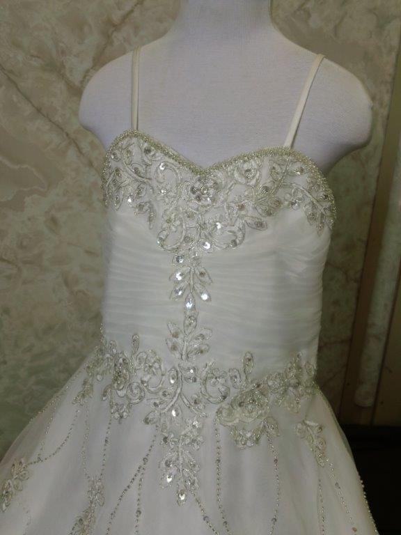 beaded flower girl dress
