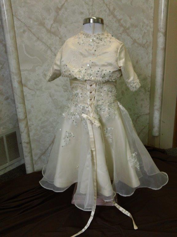 toddler champagne gown with matching jacket