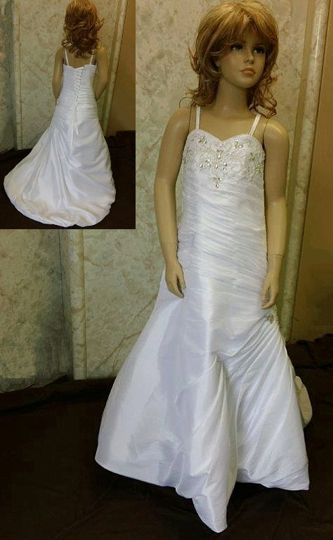 Jeweled Sweetheart flower girl dress