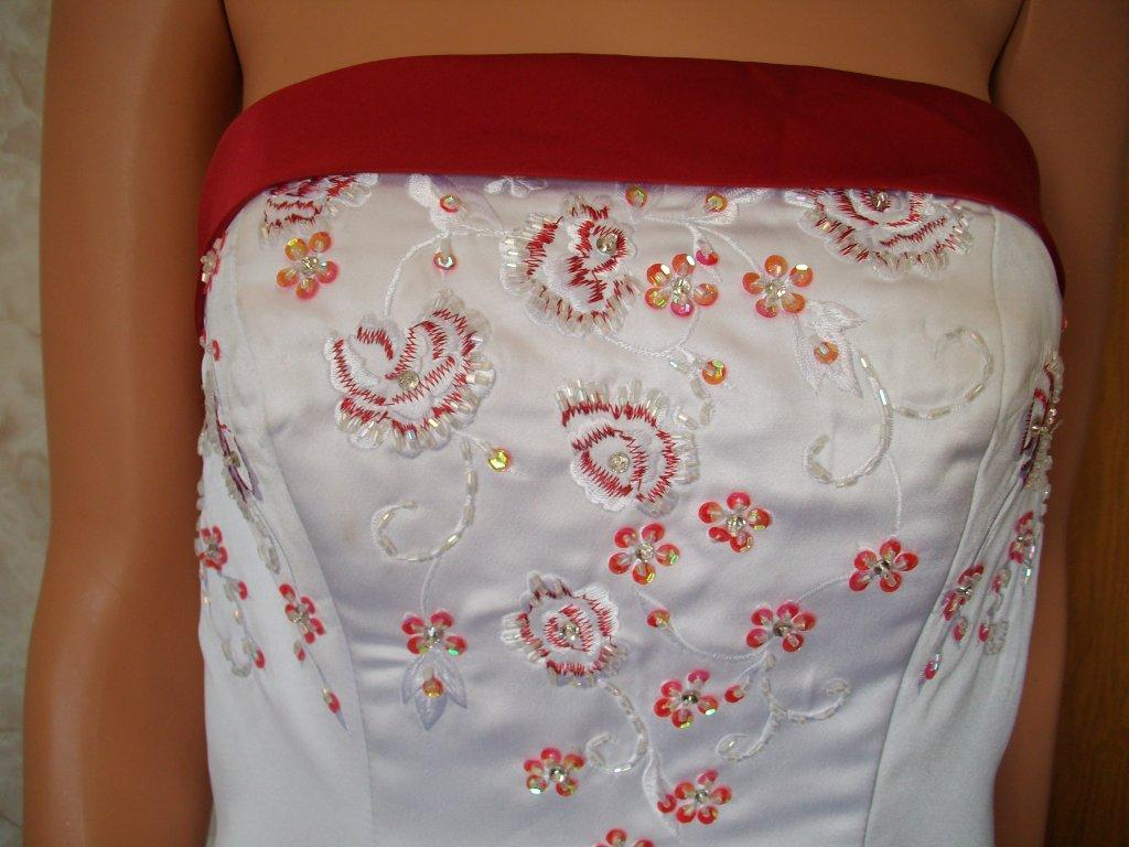 Embroidered wedding gowns with color
