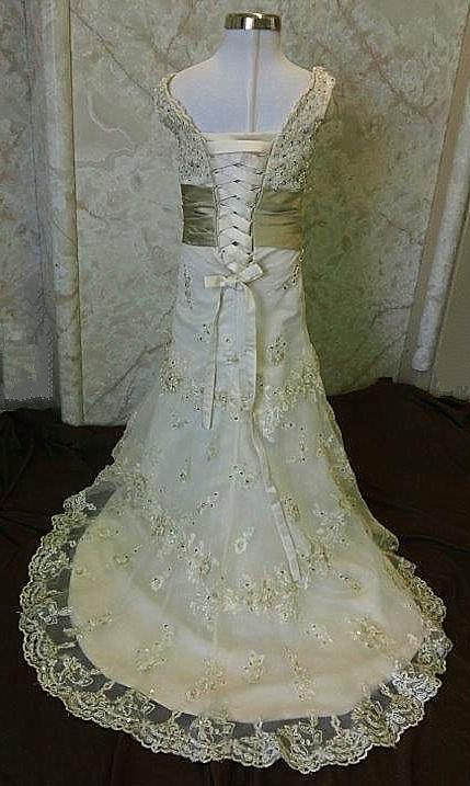 size 4 toddler wedding gown