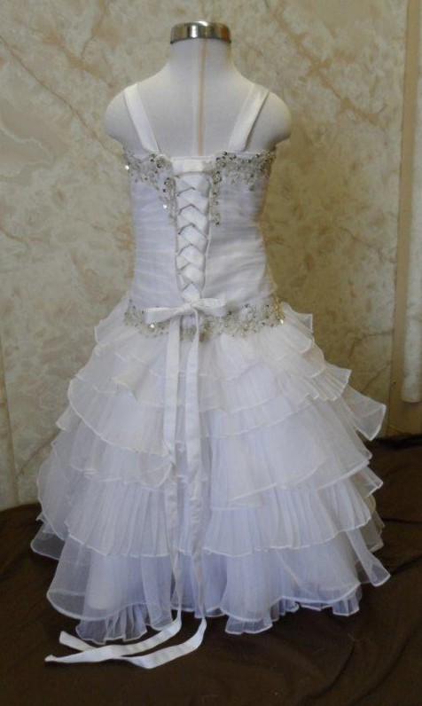 Size 4 miniature wedding gown to match the brides