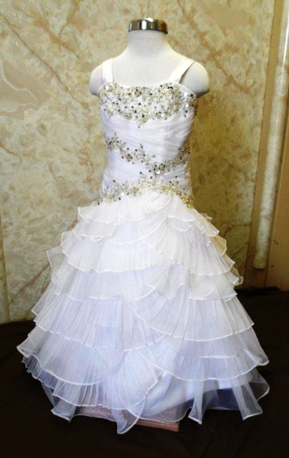 child bridal dress