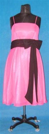 Hot pink with Black sash