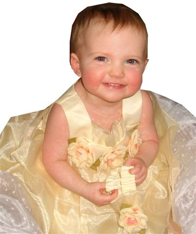Yellow infant Easter dress
