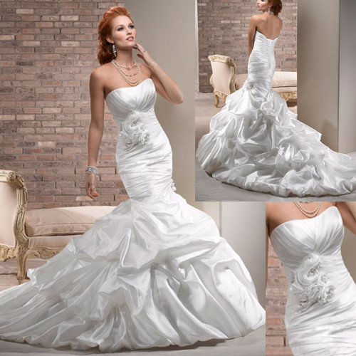 pick up mermaid wedding gown