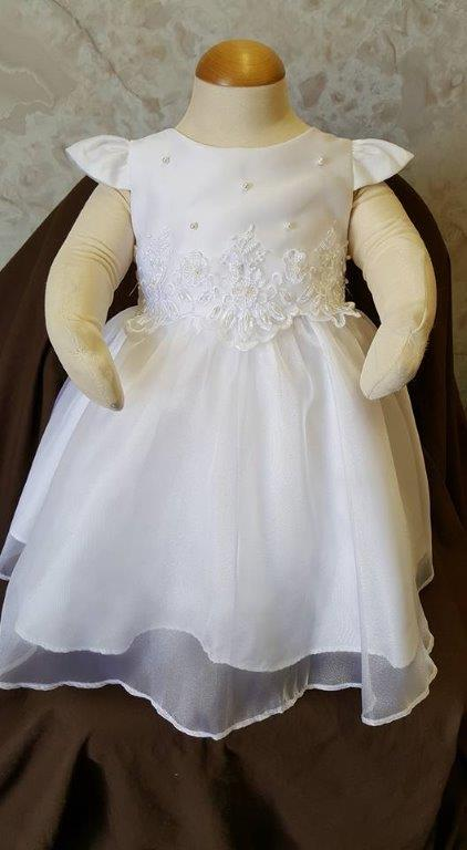 white infant dress