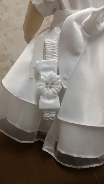 Baby Girls Christening dress with headband