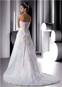 a-line wedding gown with corset back