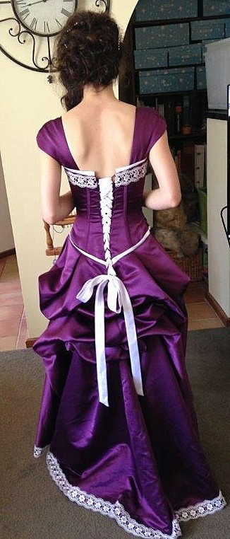 customers purple prom dress pictures