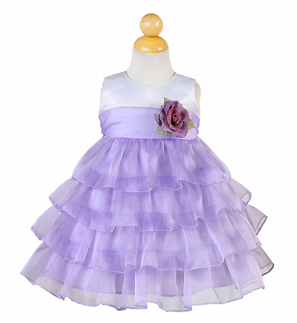 white purple baby dress