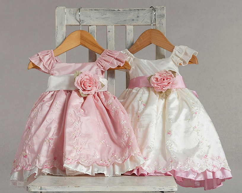 ivory and pink easter dresses