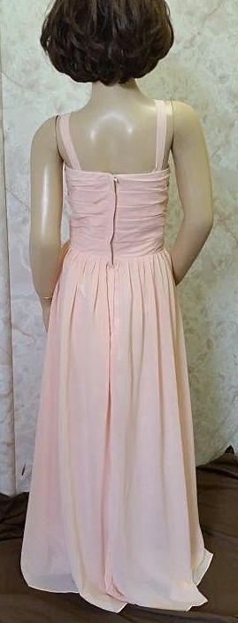 sherbet flower girl dress