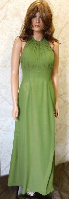 green halter bridesmaid dresses