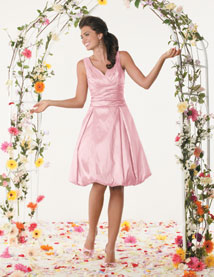 Light Pink bubble hemline dress